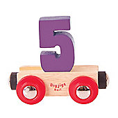 Bigjigs Rail Rail Name Number 5 (Purple)