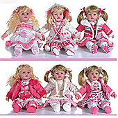 "Girlie Paws 22"" Sitting Doll"