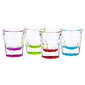 Tesco Brights Soda Shot Glasses 4 pack