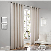 Curtina Lincoln Cream 66x90 inches (168x228cm) Eyelet Curtains