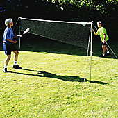 Precision Garden Badminton and Tennis Zinc Plated / Rustproof Net Set 5ft x 18ft