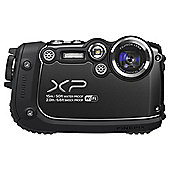 "Fuji XP200 Digital Camera, Black, 16MP, 5x Optical Zoom, Waterproof, 3"" LCD Screen, Wi-Fi"
