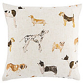 Tesco Multi Dogs Cushion, Natural