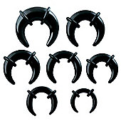 Urban Male UV Acrylic Seven Piece Kit Crescent Ear Stretching Tapers