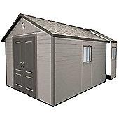 11ft x 18.5ft Duramax Plus Plastic Apex Shed with Plastic Floor + 4 windows (3.37m x 5.65m)
