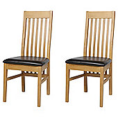 Pair Of Vertical Slat Back Chairs