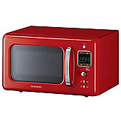 Daewoo KOR7LBKR 800W Red 20L Retro Collection Microwave