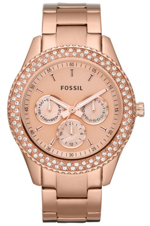 Fossil Ladies Fashion Rose Gold Tone Steel Watch ES3003