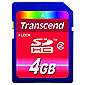 Transcend 4GB SDHC Class 2 Flash Memory Card