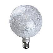 MiniSun 3W Cool White LED Glitter Globe Bulb - ES E27