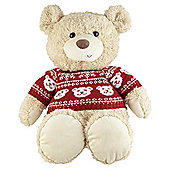 40cm Bear With Christmas Jumper