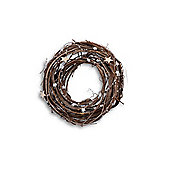 Natural Twig Handmade Christmas Wreath With Star Detail - Small