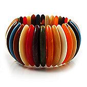 Wide Multicoloured Flex Resin Bracelet
