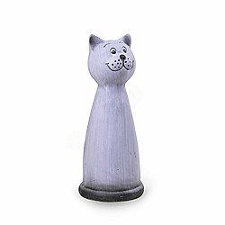 Cheerful Terracotta Animal Garden Ornament - Cat