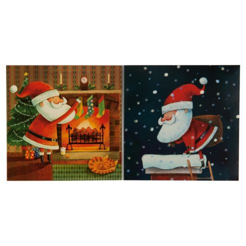 Tesco Santa & Co Christmas Cards, 12 Pack