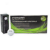16 Forgan Golf Titanium Distance Mens Golf Balls White