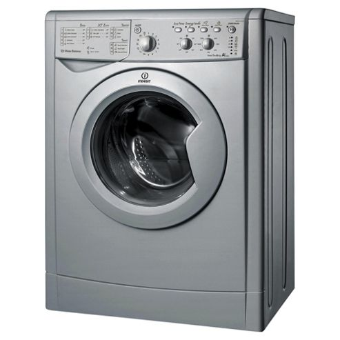 Indesit IWSC61251S ECO Washing Machine, 6Kg Wash Load, 1200 RPM Spin, A+ Energy Rating, Silver