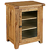 Kelburn Furniture Bordeaux Hi-Fi Cabinet in Medium Oak Stain and Satin Lacquer