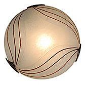 Naeve Leuchten Albus 1 Light Flush Light