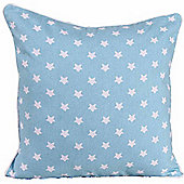 Homescapes Cotton Blue Stars Scatter Cushion, 30 x 30 cm