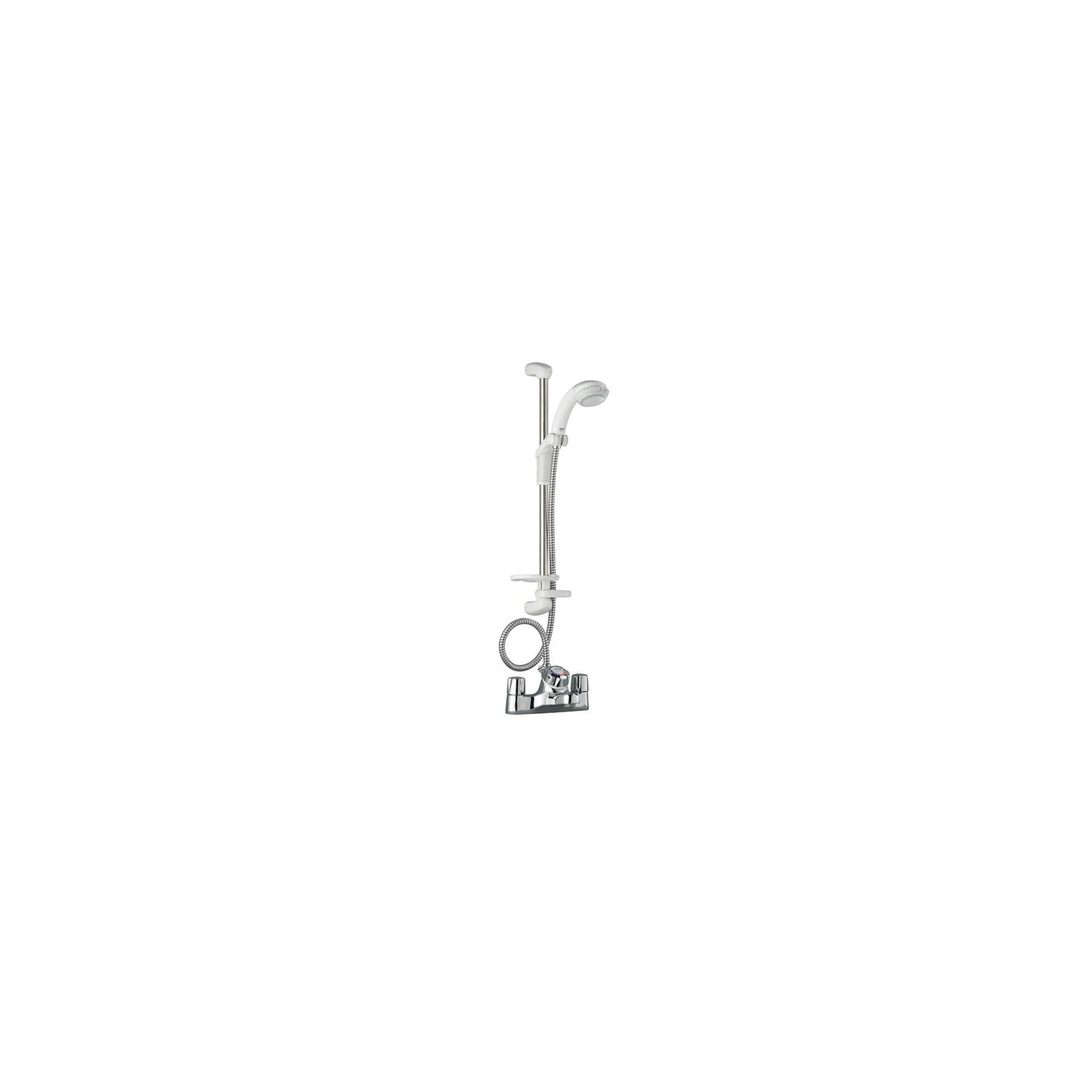 Mira Extra EV Bath Shower Mixer and Kit White / Chrome at Tesco Direct