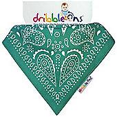 Dribble On Designer Print Bib - Turquiose Paisley