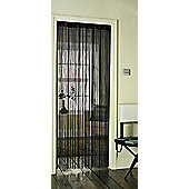 Country Club Single String Door Curtain 90x200cm, Chocolate Brown