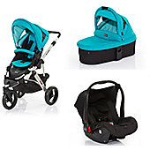 ABC Design Cobra 3 in 1 Pram Travel System - Coral (Silver Frame)