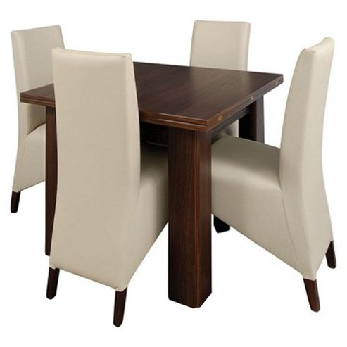 Caxton Royale Butterfly Extending 4 Chair Dining Set in Dark Oak
