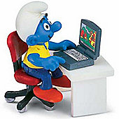 Schleich Super Smurfs Smurf with Laptop