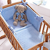 Clair de Lune 2pc Crib Bedding Set (Marshmallow Blue)