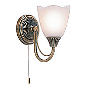Endon Lighting Wall Light in Antique Brass Plate