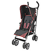 Kiddu Cruz 5-Position Lie Back Buggy, Black/Red