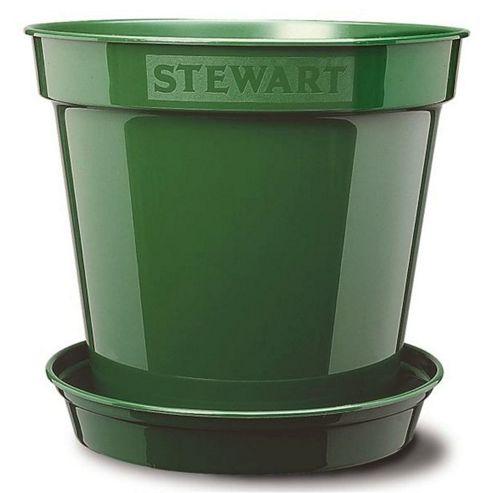 buy stewart garden premium flower pot 18cm green. Black Bedroom Furniture Sets. Home Design Ideas