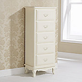 Elements Provencal Butterfly 5 Drawer Slim Chest