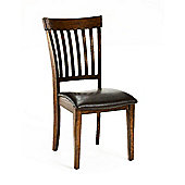 Wiseaction Arbor Hill Misson Back Brown Leather Dining Chair (Set of 2)