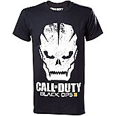 Call Of Duty Black Ops Iii Skull With Logo Men's T-shirt, Extra Large, Black - Gaming T-Shirts