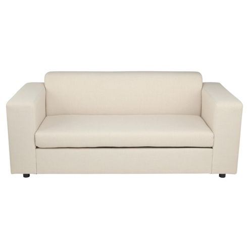 Stanza Fabric Sofa Bed, 2 Seater Sofa Natural