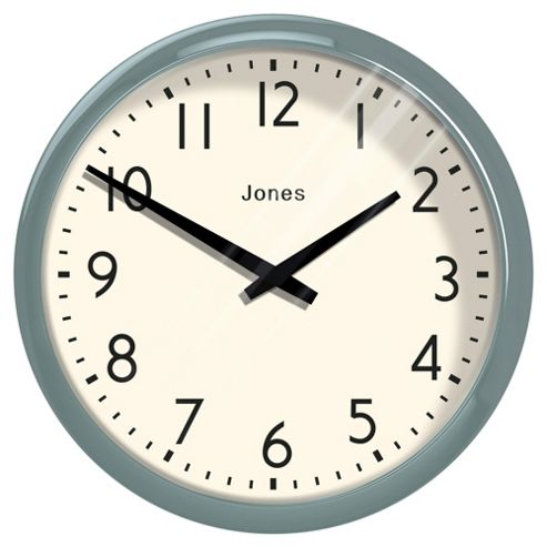 buy jones co duck egg casablanca wall clock from our. Black Bedroom Furniture Sets. Home Design Ideas