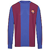 Barcelona 1974 Home Shirt - Claret & Blue