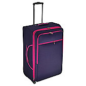 Tesco 2-Wheel Large Purple/Pink Suitcase