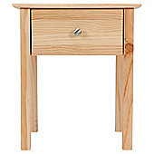 New Pine 1 Drawer Bedside Table