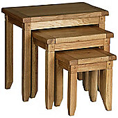 Kelburn Furniture Veneto Rustic Oak Nest of Tables