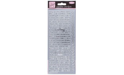 Outline Stickers Teen Talk Silver