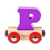 Bigjigs Rail Rail Name Letter P (Purple)