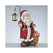 Alterton Furniture Amsel Santa Claus with Lantern Garden Statue