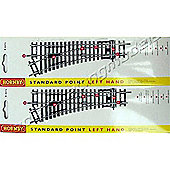 Hornby Track R8072 2X Standard Points Left Hand