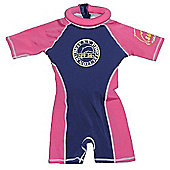 Jakabel Girls Swimsafe Surfit Floatsuit Navy/Pink 2013 - Pink
