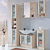 Posseik Nizas 116.5 x 30cm Wall Cabinet - White