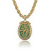 Gemondo Gold Plated Sterling Silver 7.85ct Jade & Diamond 'Longevity' Pendant on 45cm Chain